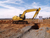 Heavy duty construction equipment — Stockfoto