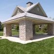 An outdoor picnic pavilion — Stockfoto