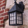 Stock Photo: Colonial style wall lantern