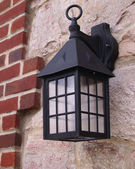 Colonial style wall lantern — Stock Photo