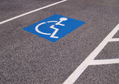 Place de stationnement handicapé — Photo