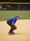 Little league baseball player — Stock Photo