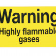 Stock Photo: Gas warning sign