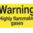 Gas warning sign — Stock Photo