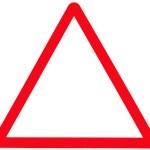 White triangle sign — Stock Photo #2479505