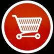 Shopping trolley sign — Stock Photo