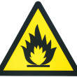 Flammable sign — Stok fotoğraf
