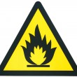 Flammable sign — Stock Photo