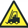 Forklift sign - Stock Photo