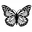 Butterfly silhouette — Stock Photo