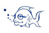 Fish illustration — Stock Photo