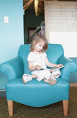 Child Reading Booking — Stock Photo