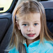 Child in Carseat — Stock Photo