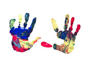 Childs Handprints — Stock Photo