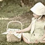 Amish Kind — Stockfoto