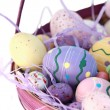 Stock Photo: Basket of Easter Egg
