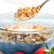 Royalty-Free Stock Photo: Spoonful of granola