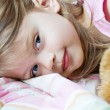 Child in Bed — Stock Photo