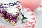 Blueberry Flan — Stock Photo