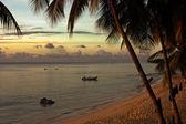 Coucher de soleil sur plage — Stock Photo