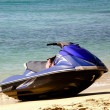 Jet boat on beach — Stock Photo #2368110