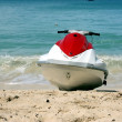 Jet boat on beach — Stock Photo #2368325