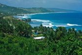 Panoramic view of Barbados island — Stock Photo