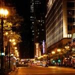 Panorama Chicaga v noci — Stock fotografie
