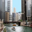 Chicago river downtown — Stock Photo #2371832