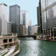 Chicago river downtown — Stock Photo #2371855