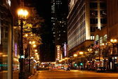 Chicago cityscape at night — Stockfoto