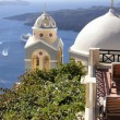 Church domes in Greece — Stock Photo