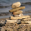 inukshuk stone sculpture — Stock Photo