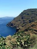 Volcano and caldera in Greece — Stock Photo