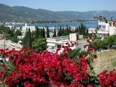 Scenic landscape on greek island — Stock Photo