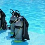 Scuba diving tanks — Stock Photo
