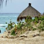 Touriste sur plage — Stock Photo