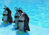 Scuba diving tanks — Stock Photo