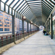 Stock Photo: Glass roof passage