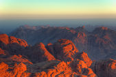 Early morning landscape view in Sinai — Stock Photo