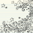 Royalty-Free Stock Vector Image: Stars Sketchy Doodles Design Elements