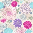 Flowers Seamless Repeat Pattern - Stock Vector