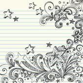 Stars Sketchy Doodles Design Elements — Stock Vector