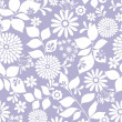 Seamless Repeat Pattern Flowers Vector — Stock Vector