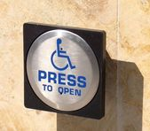 Handicap Entry Button — Stock Photo