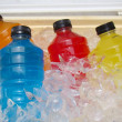 Stock Photo: Sports Energy Drinks On Ice