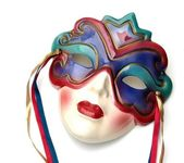 Colorful Ceramic Mardi Gras Mask — Stock Photo