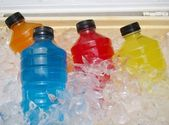 Sports Energy Drinks On Ice — Stock Photo