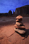 Zen Stones in Monument Valley — Stock Photo