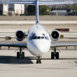 Stock Photo: Commercial Jet on Airport Tarmac